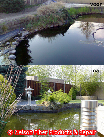 Waterdichte vijverbekleding & reparatie